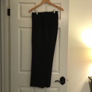 Black cropped ankle slacks from Loft
